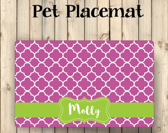 Custom Pet Placemat | Custom Pet Mat | Custom Dog Mat | Cat Placemat | Dog Food Mat