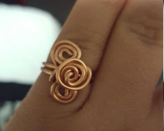 Handmade Copper Swirl Ring