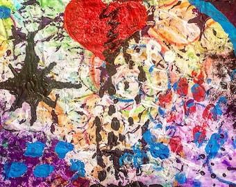No Empathy- Broken Heart Painting