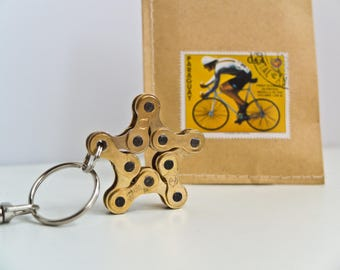 Upcycling Keychain Star Gold