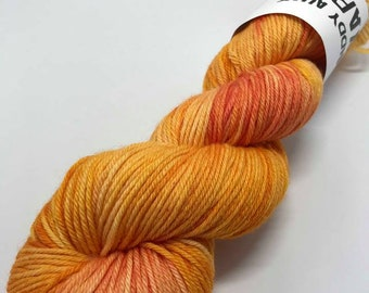 Hand Dyed Yarn Oddball Variegated Orange 100g/225m DK Double Knitting 75/25% Superwash Merino/Nylon Mulesing Free