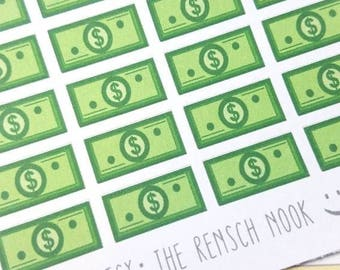 SALE! Money planner stickers - Erin Condren - Happy Planner - Pay Day - Dollar bill - Bills - Christmas Gift