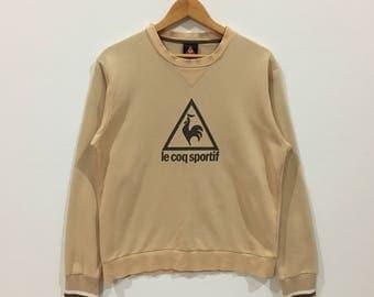 Rare !!! Le coq sportif big logo sweatshirt