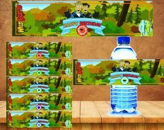 Wild Kratts Water Bottle Label instant download, Printable Wild Kratts party Water Bottle Label, Wild Kratts Water Bottle Label
