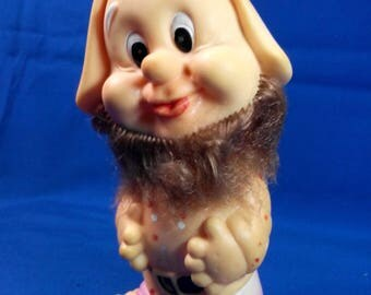 Soviet Rubber Toy, Rubber Gnome,  Made in USSR  1980 s.