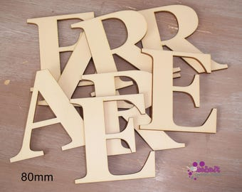 Laser Cut Full Alphabet or numbers