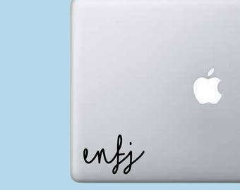 ENFJ Decal Sticker - Myer's-Briggs Decal - Laptop Decal - Laptop Sticker - Macbook Sticker - Vinyl Sticker - Car Decal - iPad Decal