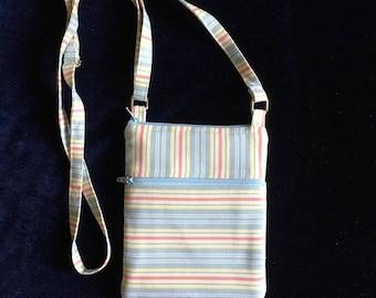 Cell phone bag; Small crossbody bag; Stripes
