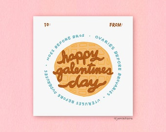 Galentines Day Mini Card • Hoes Before Bros • Ovaries Before Brovaries • Uteruses Before Duderuses