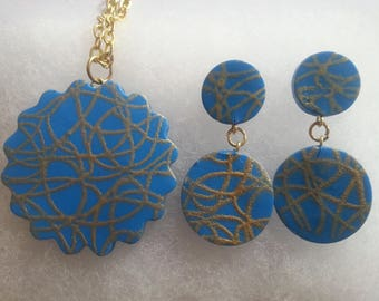 Terracotta/ Polymer Clay Silkscreen Jewelry
