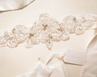 Handmade bamboo silk bridal belt