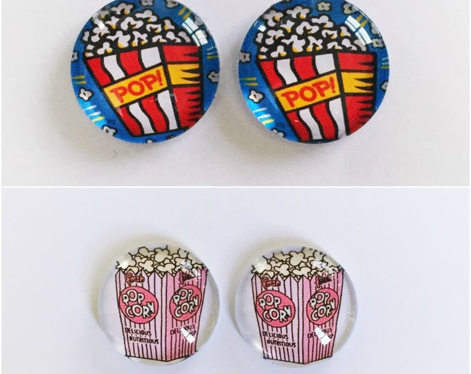 The 'Popcorn' Glass Earring Studs