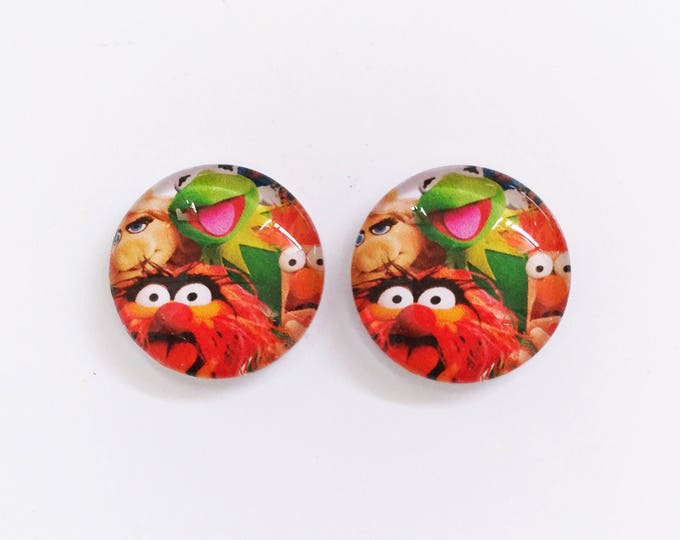 The 'Muppets' Glass Earring Studs