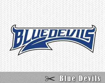 Blue Devils Layered SVG PNG logo Vector Cut File Silhouette Studio Cricut Design Template Stencil Vinyl Decal Tshirt Transfer Iron on