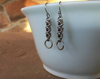 Stainless Steel Chainmail Earrings