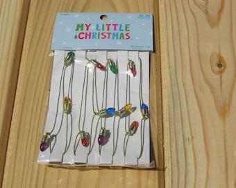 My Little Christmas Miniature Christmas Light Decoration / Garland