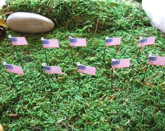 10 Pieces Miniature United States Flag on Stake - Indoor Only