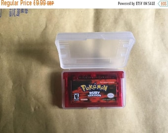 Nintendo game boy gba advance Pokemon rubyworking save fan made repro game hand made