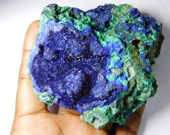 Azurite Malachite gemstone,Specimen Malachite Azurite Rough gemstone.Natural Azurite Malachite,Rough Malachite Azurite druzy 430 Gm.# 3437N