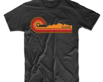 Retro Style Tallahassee Florida Skyline T-Shirt