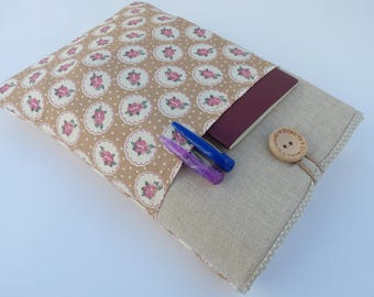 Padded Planner Pouch, A5 Journal Cover, Fabric Book cover, Paperback book cover, A5 diary cover, Padded Book Sleeve, Planner Cover Floral