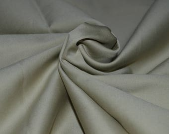 "Tan Cotton Stretch Sateen Fabric 58"" Wide BTY"