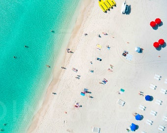 South Beach: 'Sobe Life  // Aerial Beach Photography // Limited Edition