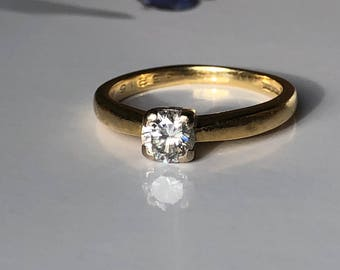 A .41ct Diamond Solitaire with IGI certificate on 18ct yellow gold