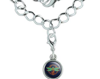 Dragonfly Elegant Silver Plated Bracelet with Antiqued Charm