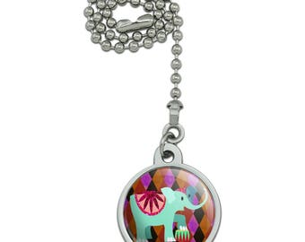 Circus Elephant Ceiling Fan and Light Pull Chain