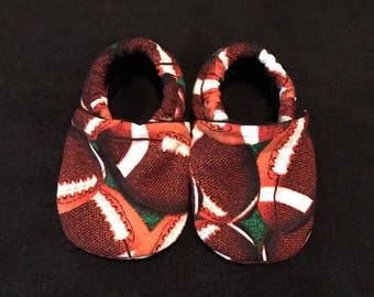 Football Cloth Baby Booties