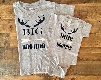 newborn boy outfit, brother outfits, brother shirts, boy coming home outfit, little brother, big brother shirt, big bro little bro shirts