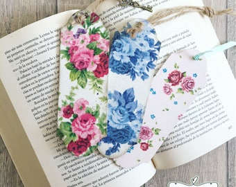 Personalised wooden bookmark, vintage roses design, floral design, decoupage bookmark, teachers gift, vintage gift, shaby chic gift