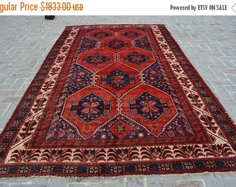 SALE 45% OFF 12 x 7'2 FT Handmade Afghan Tribal vintage area rug