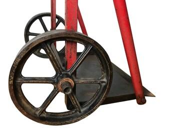 Red Welding Torch Cart