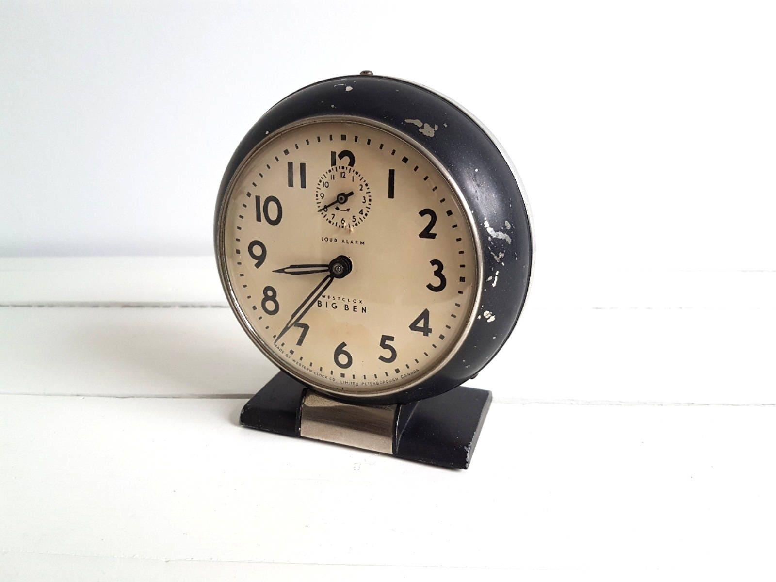 Unique Industrial Vintage Alarm Clock Black Westclox 39 Big Ben 39