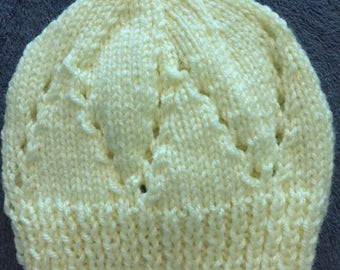 Pale Yellow Sophisticated Baby Beanie