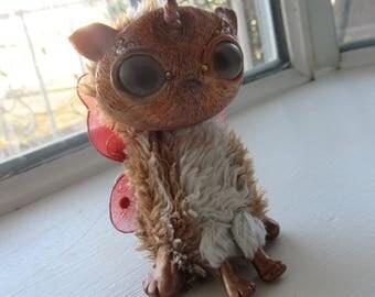Unicorn kitty ooak art doll