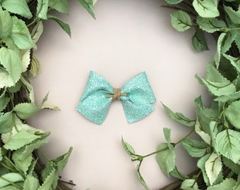Mint Mist Glitter Bow {ALICE style} - Easter - Easter 2018