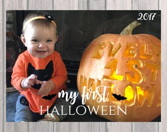 Happy Halloween Greeting - My First Halloween