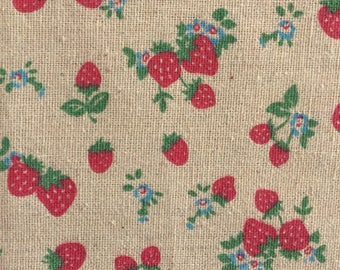 Strawberry Fabric