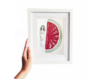 Watermelon • Art Print   Fashion Illustration
