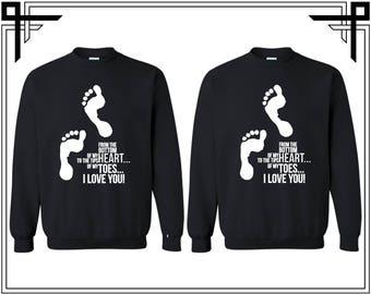 Love Quotes Couple Crewneck Sweatshirt Love Quotes Couple Crewneck Sweatshirt Couple Matching Sweatshirt Anniversary Gift Valentine's Gift