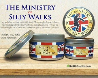 Monty Python's Ministry of Silly Walks Handmade Soy Candles