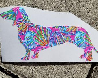 Lilly Inspired Dachshund Dog Vinyl Decal
