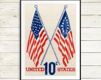 american flag poster, us flag wall art, flag art prints, rustic american flag, 4th of july decor, fourth of july, usa flag, americana poster
