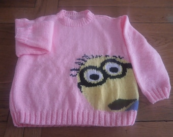 the hand knit child sweater