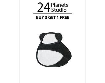 Mini Cute Panda Backside Iron on Patch by 24PlanetsStudio