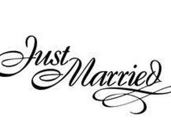 Small Just Married decal w/ free shipping