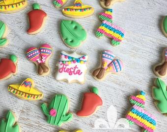 2 Dozen Mini Fiesta Summer Party Cookies